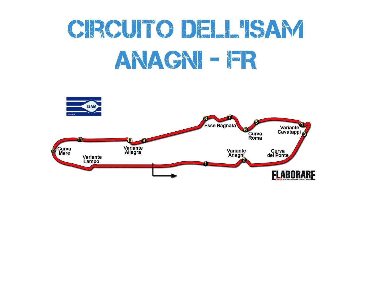 Mappa circuito Isam