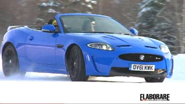 jaguar xkr convertibile neve snow