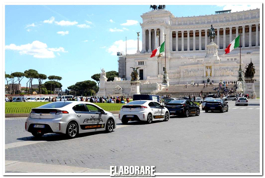 Opel Ampera in tour a Roma