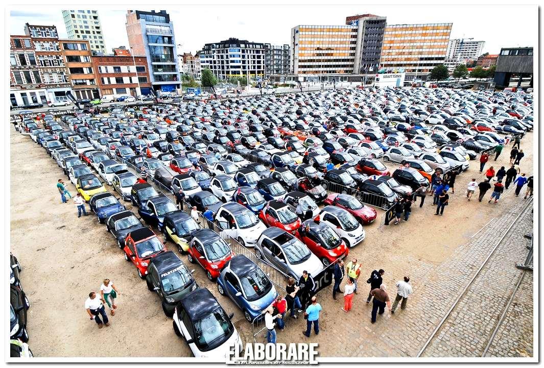 Smart parade più lunga del mondo ad Anversa