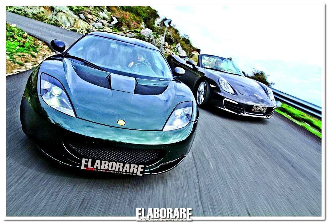 Lotus Evora e Porsche Boxster S