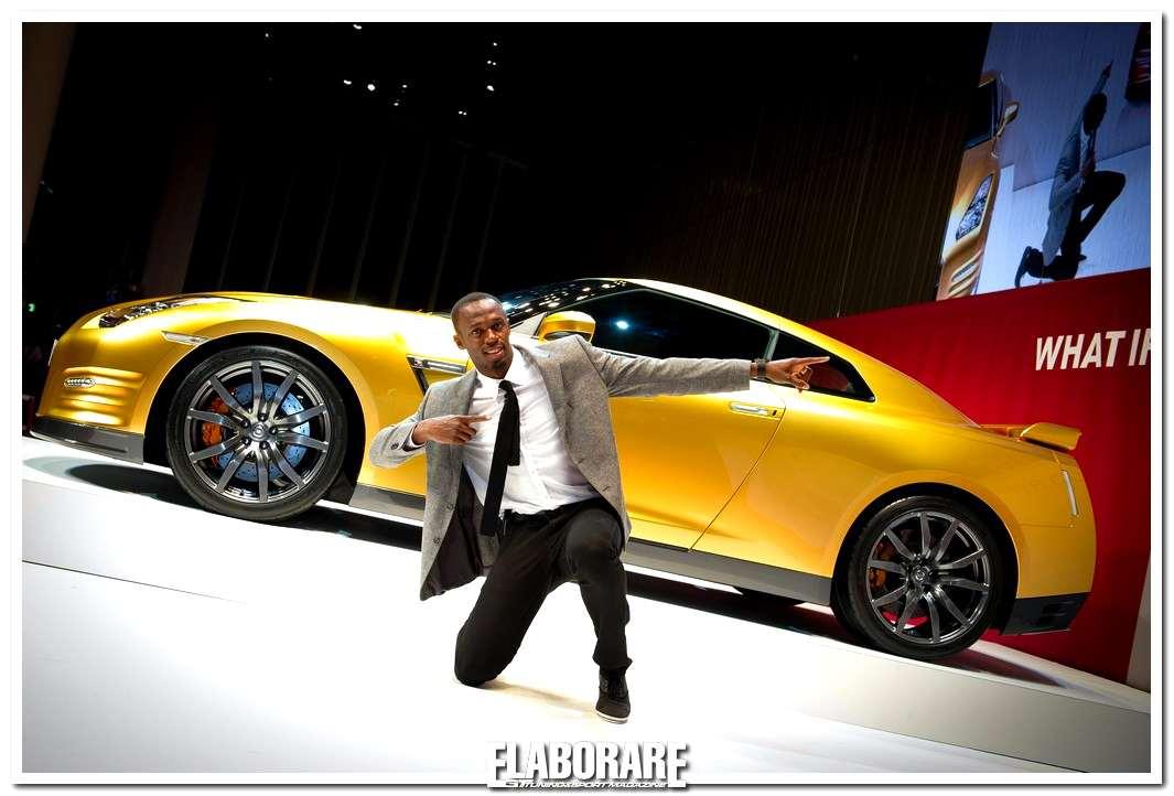 Nissan GT-R e Usain Bolt