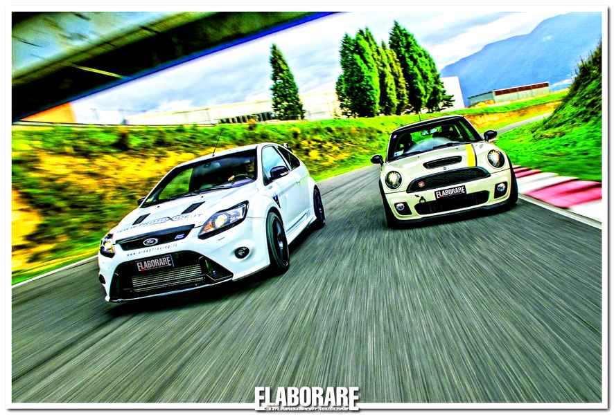 Ford Focus RS e Mini Cooper S