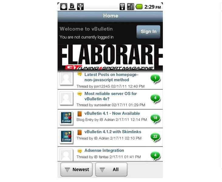APP gratuita Android Tuning da Elaborare (Forum) - ELABORARE