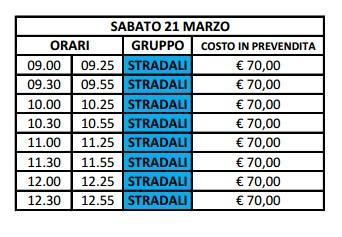 Turni Orari Vallelunga marzo 2015