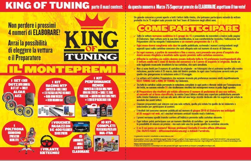 Concorso a premi king of tuning elaborare