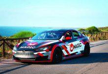 L'auto elettrica Tesla P90D all'Autoshow Elaborare Day a Modena