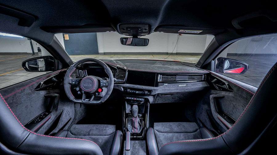 """Audi A1 """"1of1"""" elaborata 400 CV con preparazione Abt - interni"""