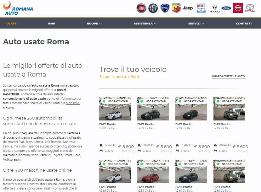 "Home page auto usate a Roma """"Auto usate a Roma"""""