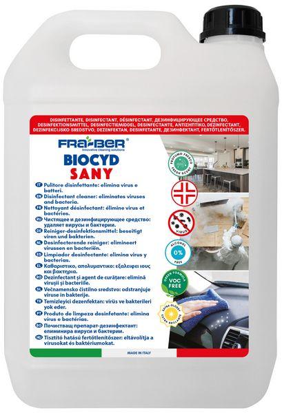 Tanica da 5 lt. del Disinfettante Fra-Ber Biocyd Sany